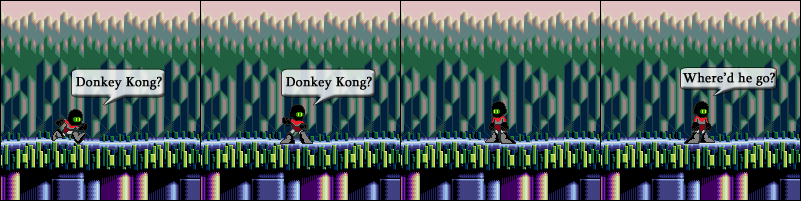 Picking up Donkey Kong